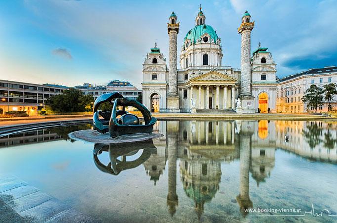 Karlskirche, booking Vienna, Hotel Vienna buchen, Hotels in Wien