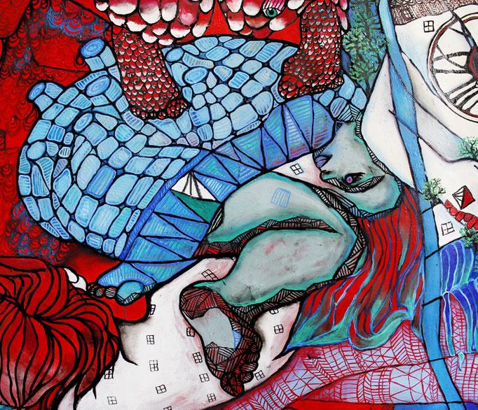 Detail GRAZ Gemälde Öl auf Leinen