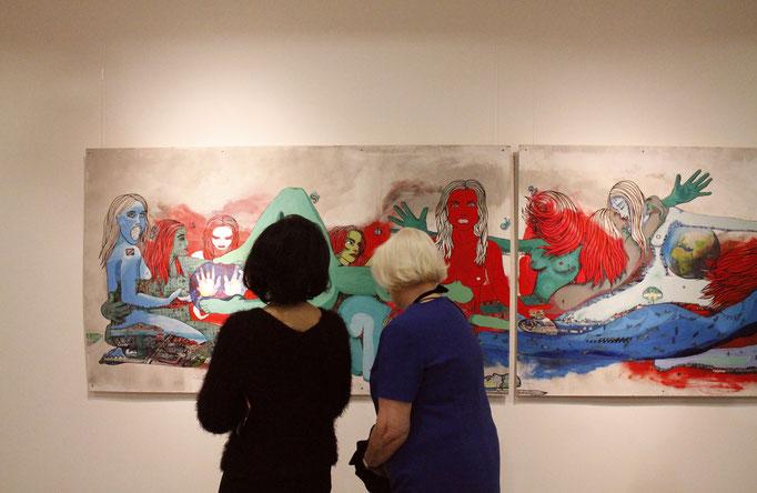 Ausstellung MODERN VENUS 2014 in Mannheim   DAS ERSTE ABENDMAHL in Betrachtung