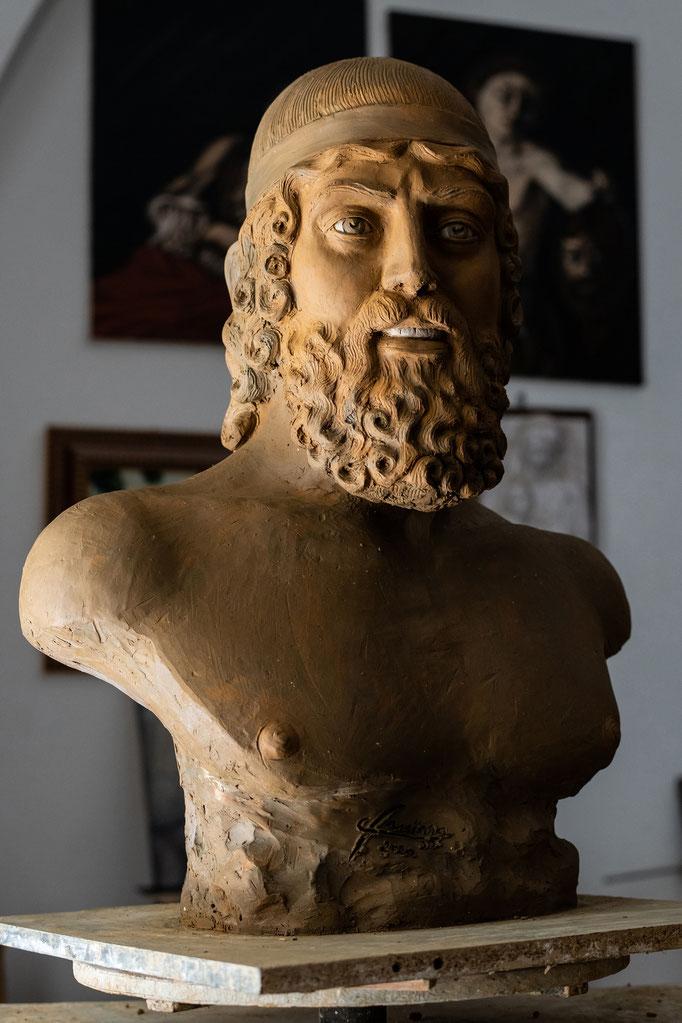 Studio su Bronzi di Riace, terracotta, Fanizza art-atelier
