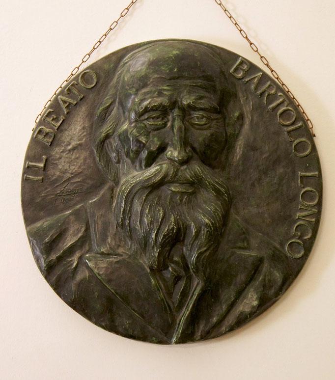 Medaglione in memoria del BEATO BARTOLO LONGO. Bronzo