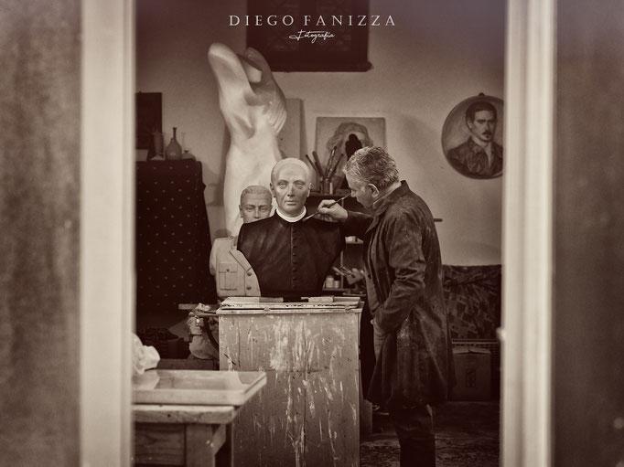 Don Bosco, artista a lavoro_Fanizza Art-Atelier
