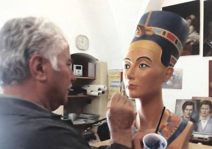 Ritratto monumentale Nefertiti_Fanizza Art-Atelier