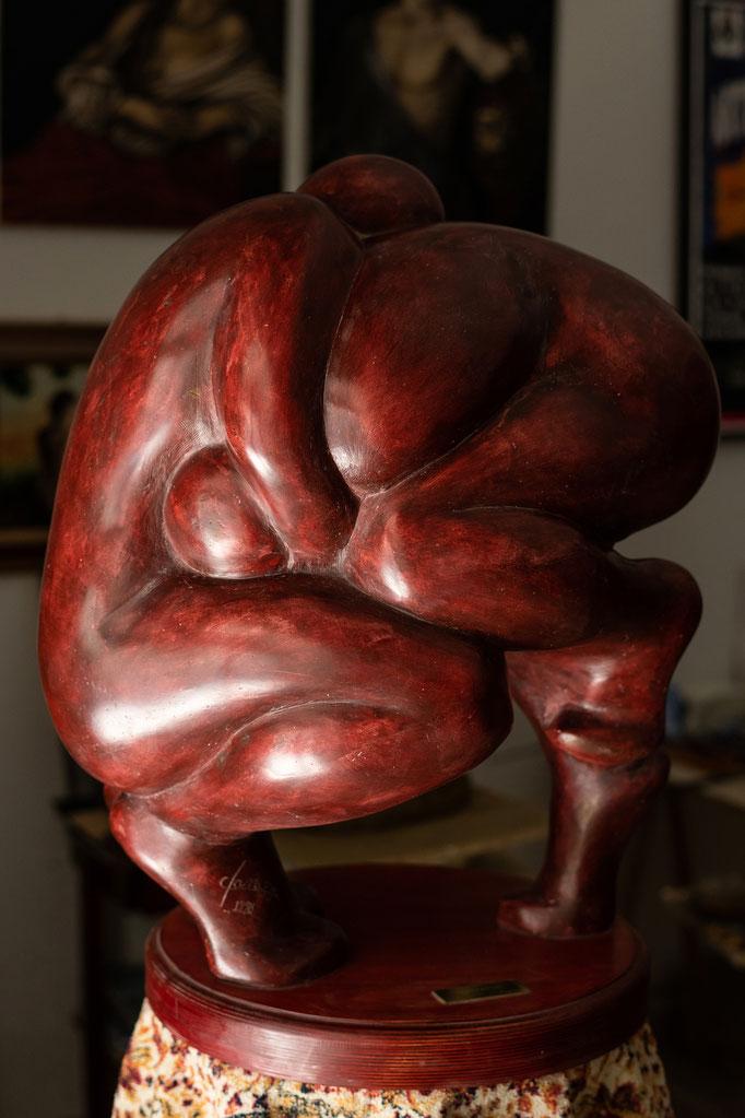 I lottatori, gesso patinato, Fanizza art-atelier