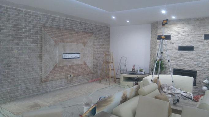 3 D Wand Realisierung