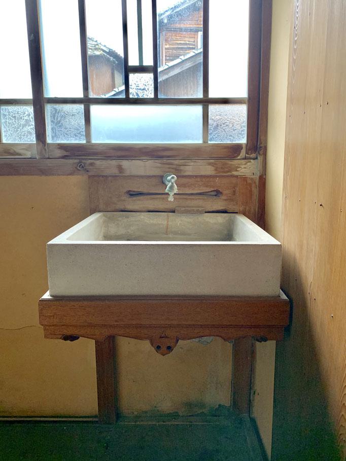 手洗い場たくさんあったけど、何気にこれが一番好きなやつ。シンプルイズベスト!