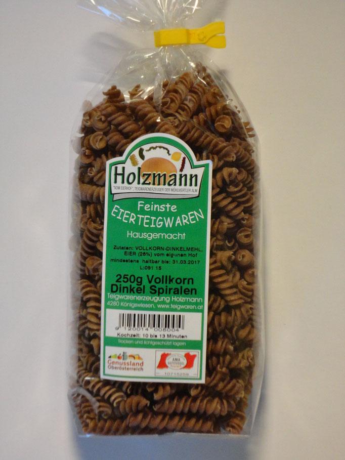 Vollkorn-Dinkel Spiralen - Vollwertiger Genuss - auch in den Sorten Fleckerl und Spaghetti!