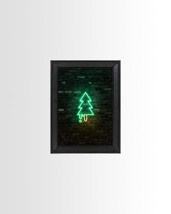Neon Waldmeister Print