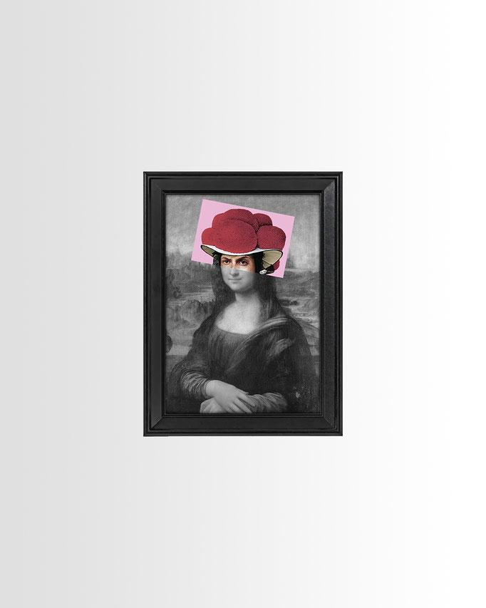 Schwarzwald Mona Lisa Bollenhut Print