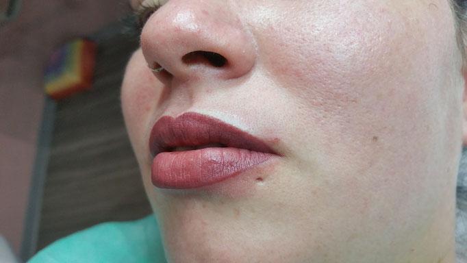Maquillage Permanent Rouge à Lèvres dégradé