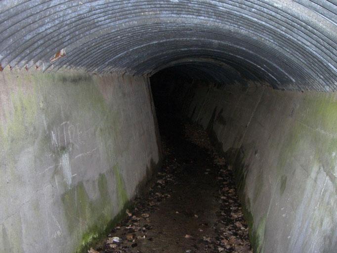 Das Innere des Tunnels
