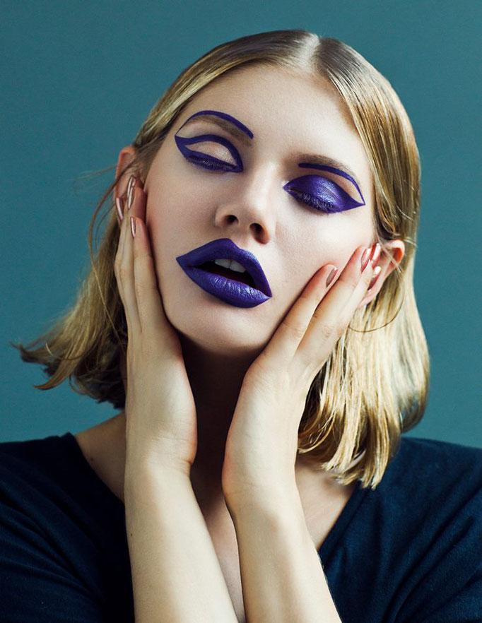 """split"" beauty editorial for makeupmymood - photography: anne højlund-nicolajsen - makeup/hair/concept: anie lamm-siu - model: martina dimitrova @wienermodels"