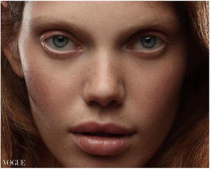 """nika"" by violetta koenig - makeup &hair: anie lamm-siu - photographer's assistant: robert lunak - model: veronika rusakova @bodyandsoulvienna"