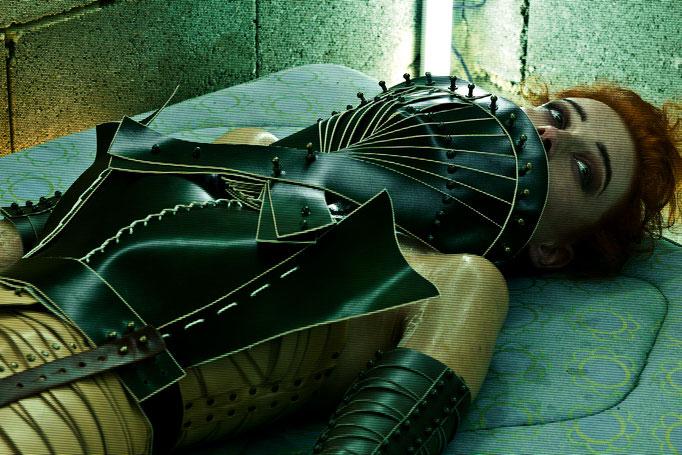 """meta.morph"" for una burke - photography: andreas waldschuetz - creative director & styling: adia trischler - hair: patrick glatthaar - makeup&sfx: anie lamm-siu - model: kamilla"
