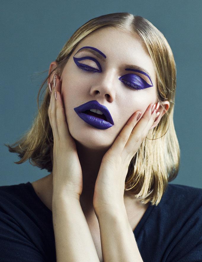 """split"" - makeup my mood - photographer: anne højlund-nicolajsen - makeup & hair: anie lamm-siu - model: martina dimitrova"