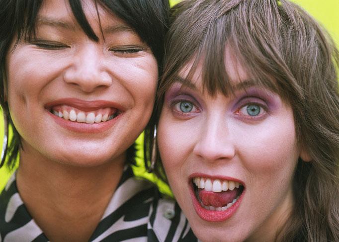 """a day at the park"" - photographer: lee o'connor - stylist: bettina bati - hairstylist: helen walker - makeup: anie lamm-siu - model: vaughan elizabeth & michelle phan"