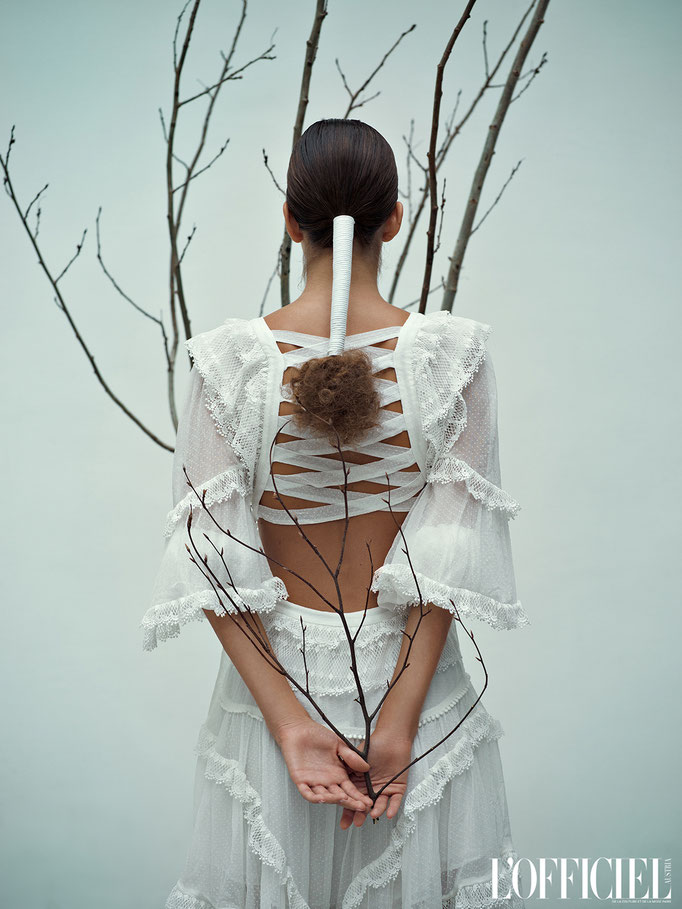"""a winter tale"" for L'OFFICIEL Austria - producer: christoph steiner - photographer: violette koenig - stylist: suiqi luk - makeup & hair: anie lamm-siu - model: coco koenig"
