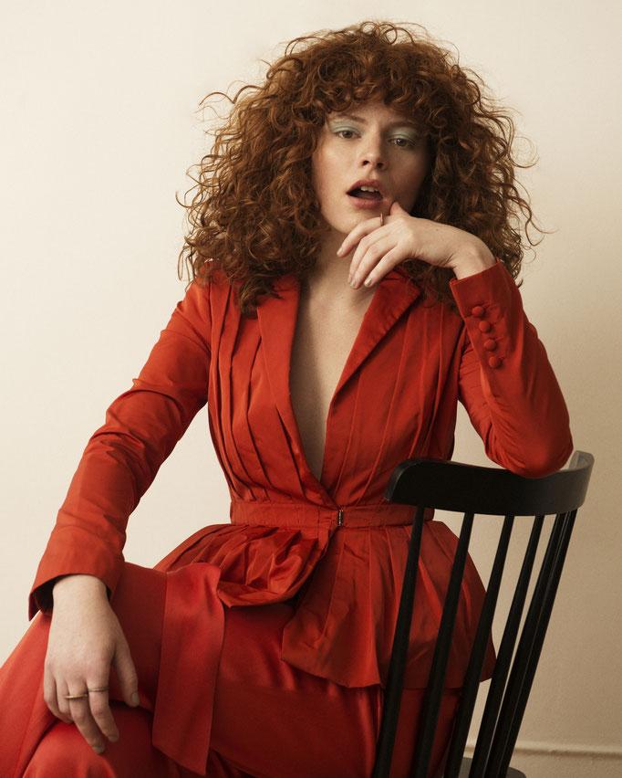 """Helen"" - photographer: rebecca miller - stylist: shala rothenberg - hair: jon michael hall - makeup: anie lamm-siu - model: helen harley"