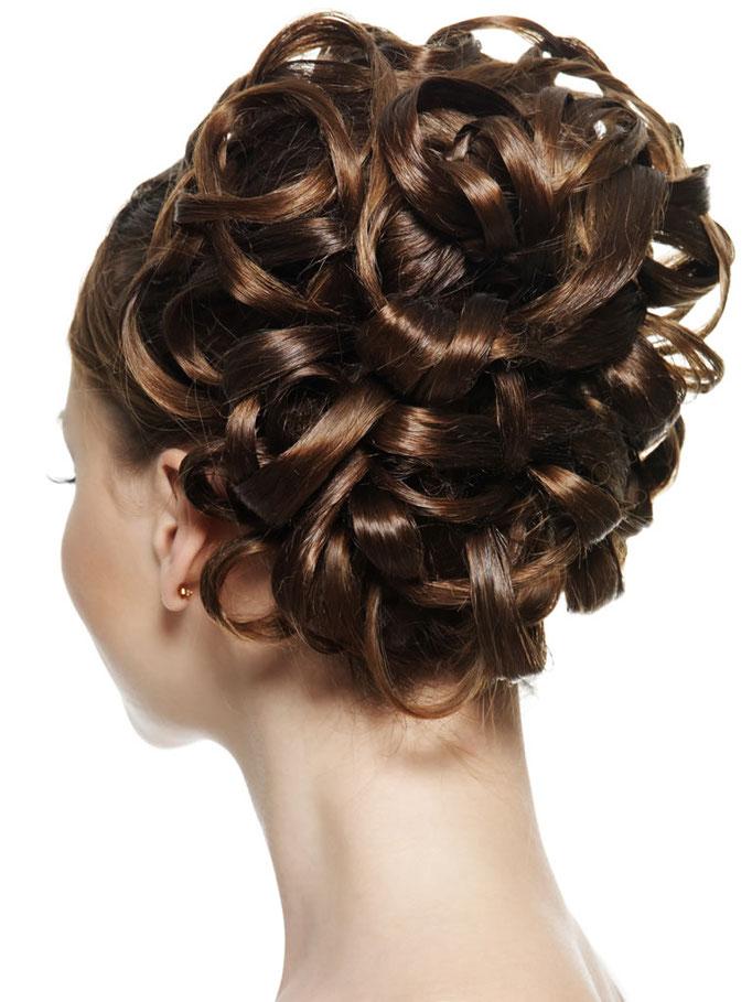 peinado con ondulados