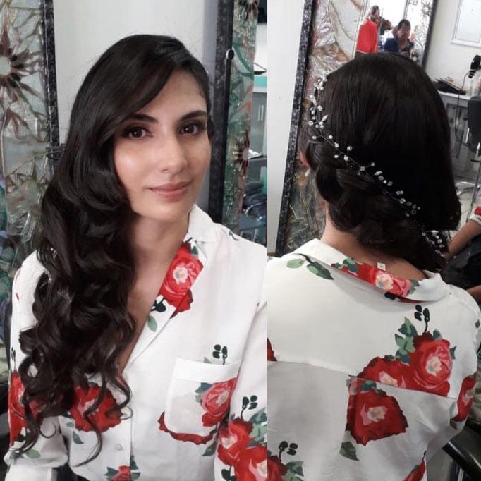 peinado novia para rostro rectangular