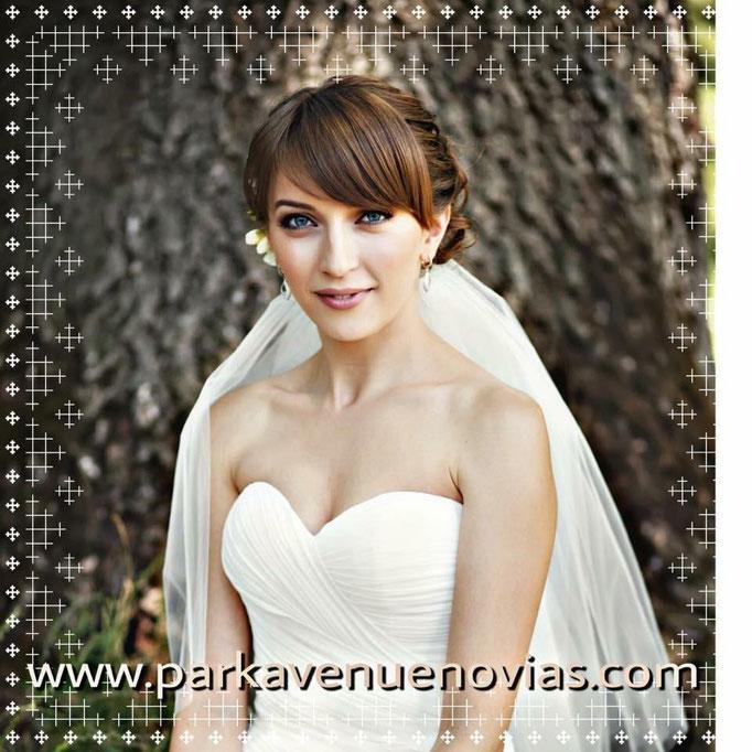 peinado para novia con rostro forma diamante