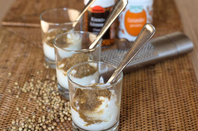 Gewürzmischung mit Joghurt