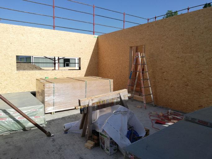 Die ersten Wände stehen im Verkaufsraum