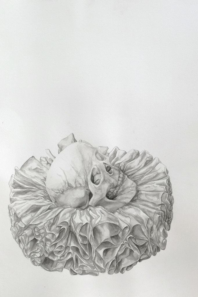une fin de renaissance - fev17 - encre sur papier Arches 300g, 56x76cm