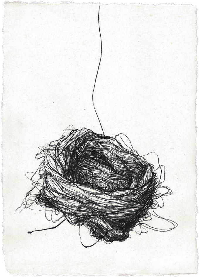 déroulement - jan15 - encre de chine sur papier Silbergburg, 110gm, 21,5x30cm
