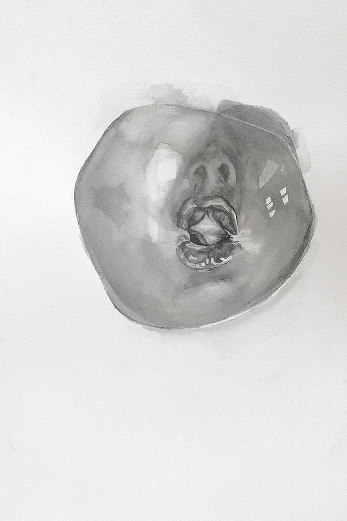 Farewell ! black balloon - fev17 - encre sur papier Arches 300g, 45x32cm