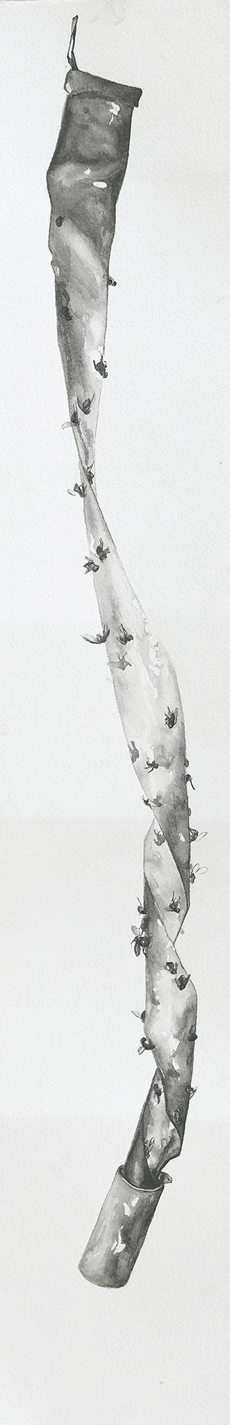 temps-mort - jan17 - encre de chine sur papier Arches, 14x76cm