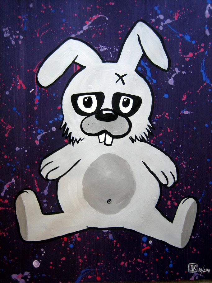 Killer Bunny, Gouache auf Papier, 53x45cm - CHF 350.- (ohne Einrahmung)