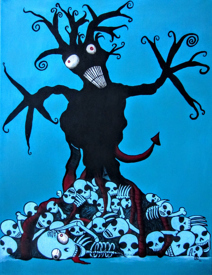 Tree of Life, Acryl auf Leinwand, 80x60cm - unverkäuflich