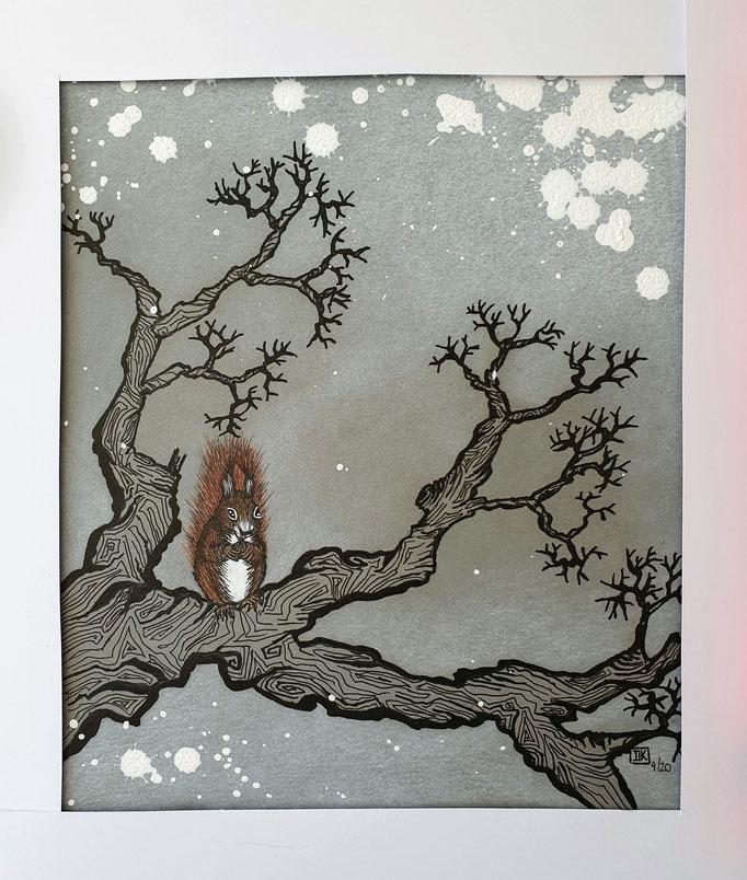 Wald Serie / Forest series, Tusche auf Papier, ca. 25x20cm - CHF 180.- (ohne Einrahmung)