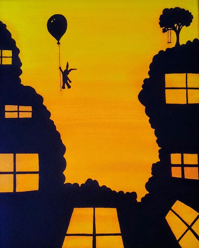 Dreaming away, Acryl auf Leinwand, 40x30cm - verkauft