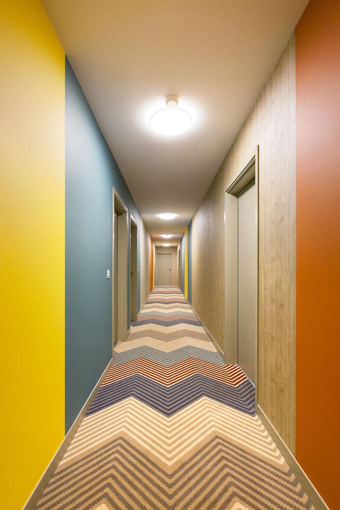 Décoration des Halls et couloirs d'une résidence - Soustons - 2017