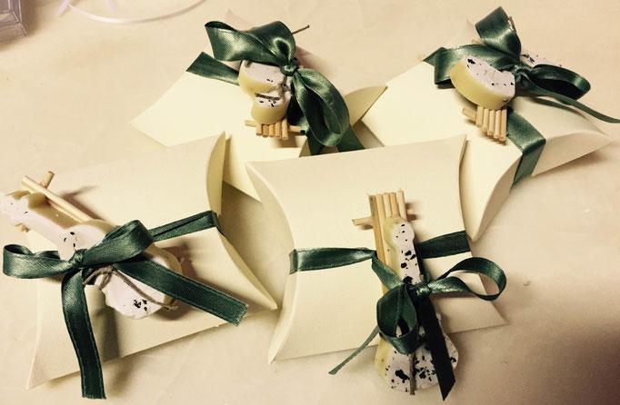 Bomboniere decorate con saponcini aromatizzati