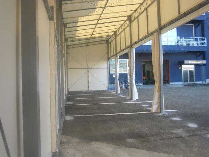 テント倉庫新築工事の工事写真