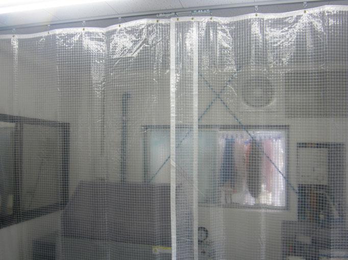 テントカーテン新設工事の工事写真