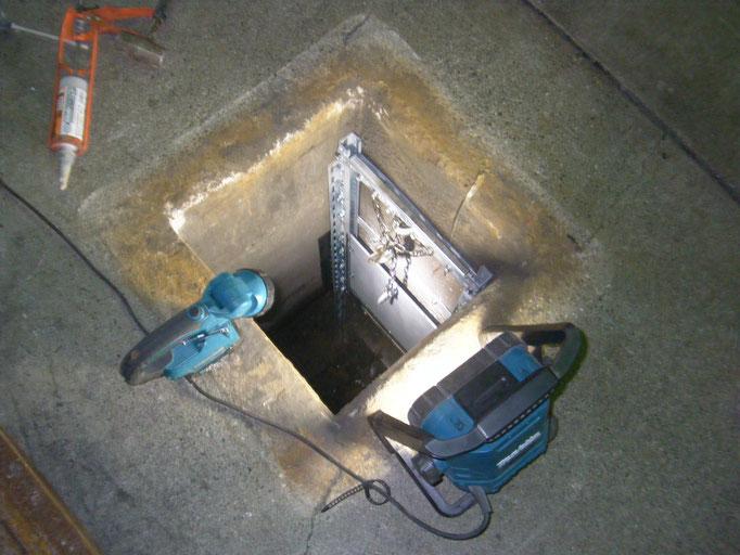 簡易水門新設工事の工事写真