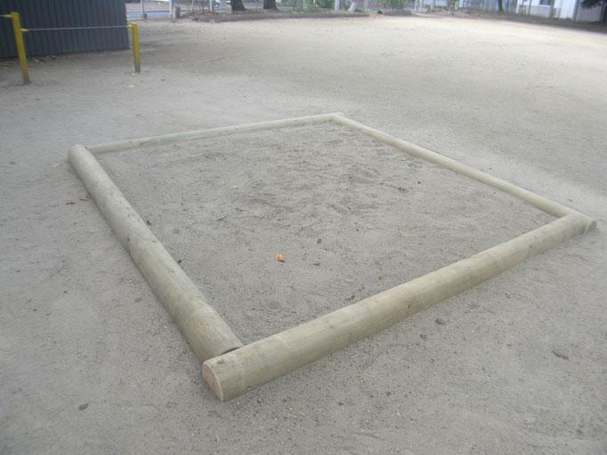 公園遊具改修工事の工事写真