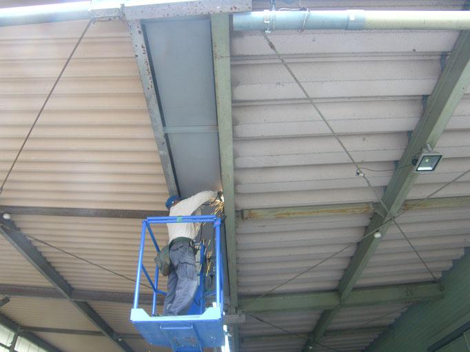 雨樋改修工事の工事写真