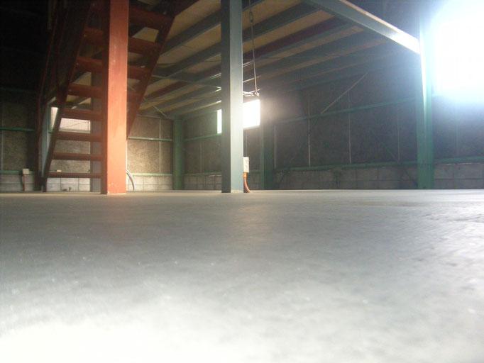 土間コンクリート新設の工事写真