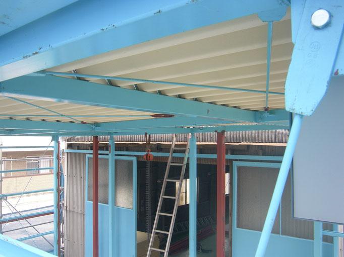 工場新築工事の工事写真