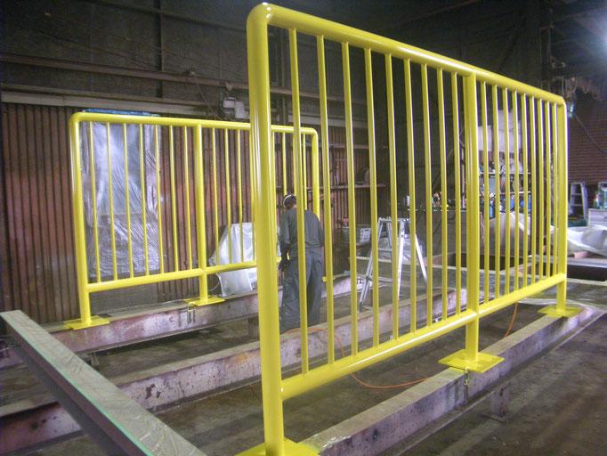 パイル転倒防止柵:工事写真