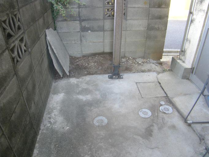 鉄骨柱腐食部補強工事:工事写真