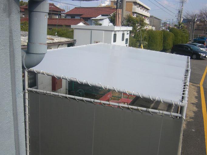 テント屋根改修工事の工事写真