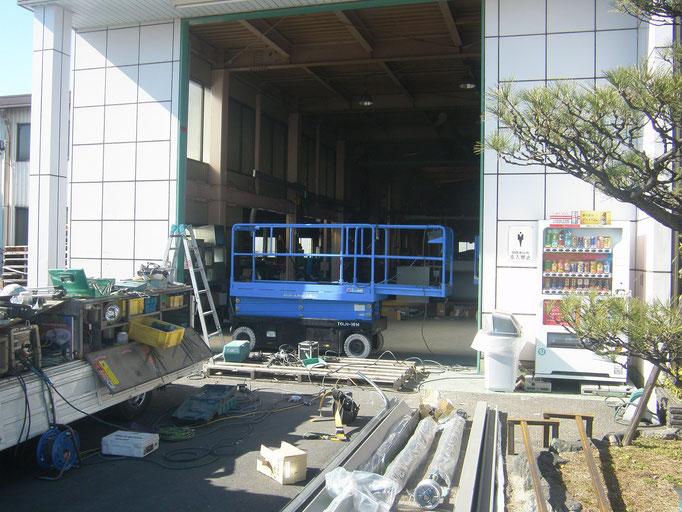 オーバースライダー取替の工事写真