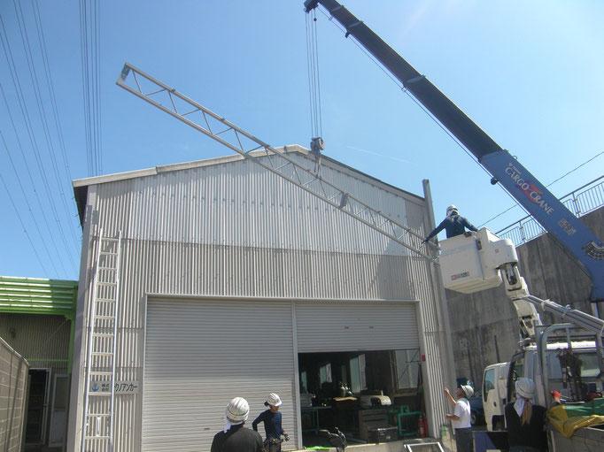 屋外荷捌き場新築工事の工事写真