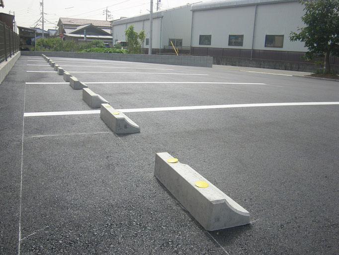 従業員専用駐車場の工事写真